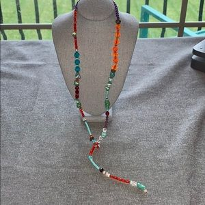Hand made with Swarovski crystals and turquoise